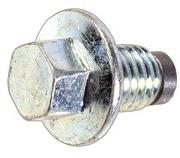 Drain Plug 12 x 1.75 Magnetic with Gasket Zinc