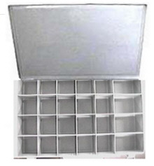 24 Compartment Plastic Storage Drawer