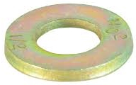 FLAT WASHER SAE YELLOW ZINC GRADE 8