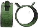 Spring Action Green Clamps