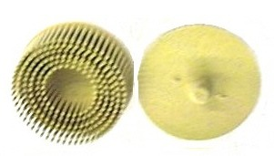 BRISTLE DISK YELLOW 2""