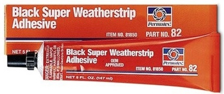 Permatex Black Super Weatherstrip Adhesive